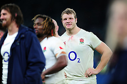 Man of the Match Joe Launchbury of England is all smiles after the match - Mandatory byline: Patrick Khachfe/JMP - 07966 386802 - 12/11/2016 - RUGBY UNION - Twickenham Stadium - London, England - England v South Africa - Old Mutual Wealth Series.