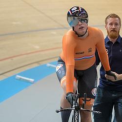 03-03-2018: Wielrennen: WK Baan: Apeldoorn<br />Elis Ligtlee rijdt de vierde tijd in kwalificatie 500 meter