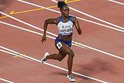 Dina Asher-Smith comfortably won her 200 Metres Women Semi-Final (Heat 3) during the 2019 IAAF World Athletics Championships at Khalifa International Stadium, Doha, Qatar on 1 October 2019.