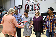 February 27, 2016: The University of Texas-Permian Basin Falcons play against the Oklahoma Christian University Lady Eagles in the Eagles Nest on the campus of Oklahoma Christian University.