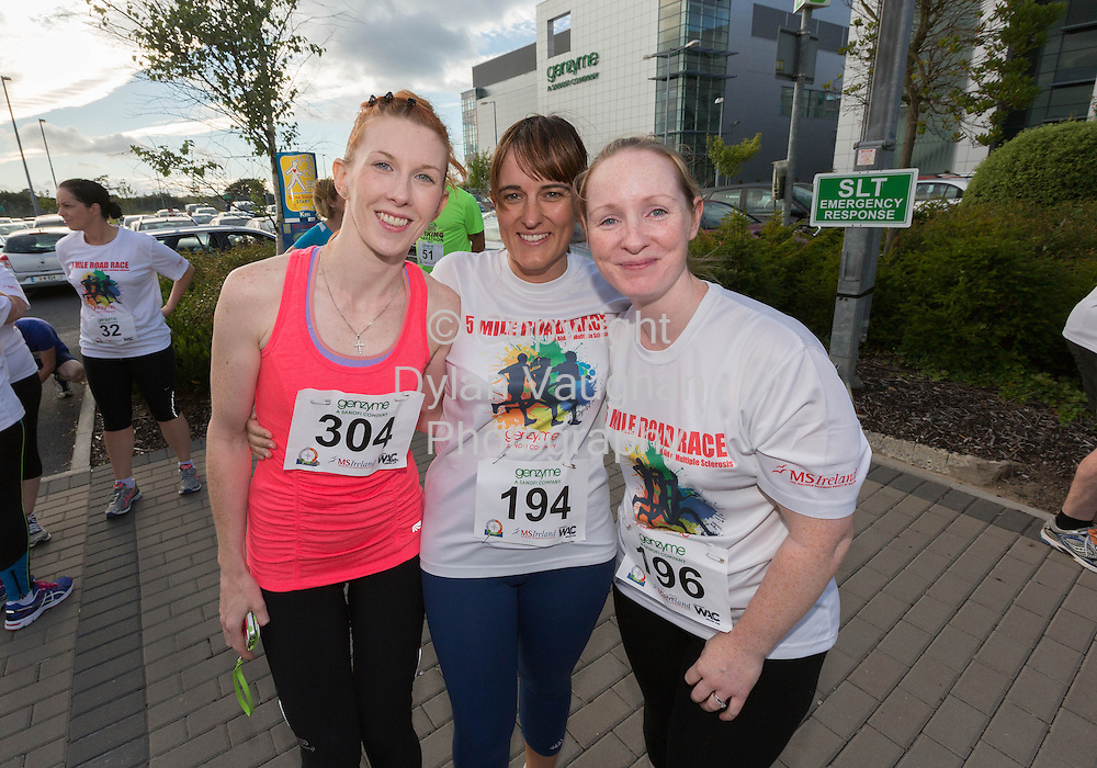 No Repro Fee<br /> <br /> <br /> 301/8/2013<br /> Kate Coleman, Claire Croke and Aisling Masterson pictured at the third annual Genzyme for MS Five Mile Road Race in Waterford on Friday (Aug 30). All proceeds from the race are going to the Waterford branch of the Multiple Sclerosis Society of Ireland. <br /> <br /> Picture Dylan Vaughan.