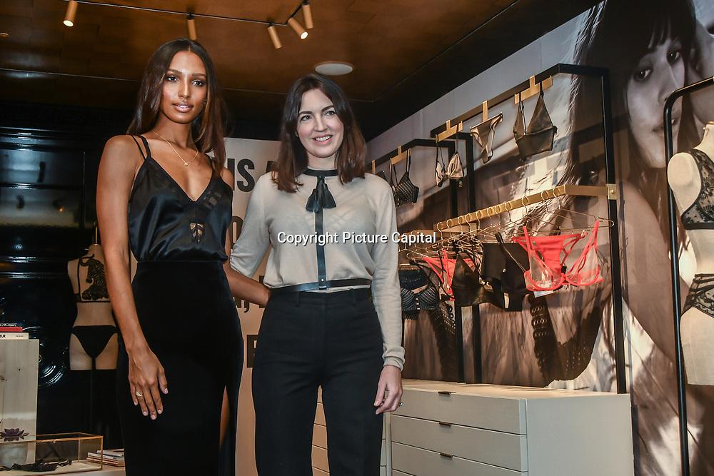 Supermodel and Angel Jasmine Tookes visits Victoria's Secret New Bond Street, alongside LIVY founder, Lisa Chavy to celebrate Victoria's Secret introducing LIVY on 20 Feb 2019, London, UK.