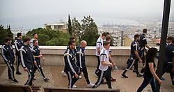 HAIFA, ISRAEL - Saturday, March 28, 2015: Wales players on a team walk ahead of the UEFA Euro 2016 qualifying Group B match against Israel. (Pic by David Rawcliffe/Propaganda)