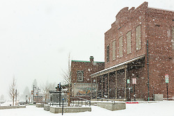 """Downtown Truckee 47"" - Photograph of historic Downtown Truckee, California shot during a snow storm."