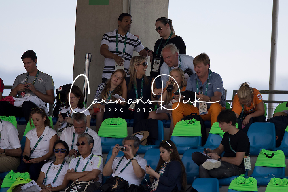 King Willem Alexander of Holland, Queen Maxima, children, Amalia, Alexia, Ariane also in the picture : Ingmar Devos (President FEI)<br /> Olympic Games Rio 2016<br /> © Hippo Foto - Dirk Caremans<br /> 16/08/16