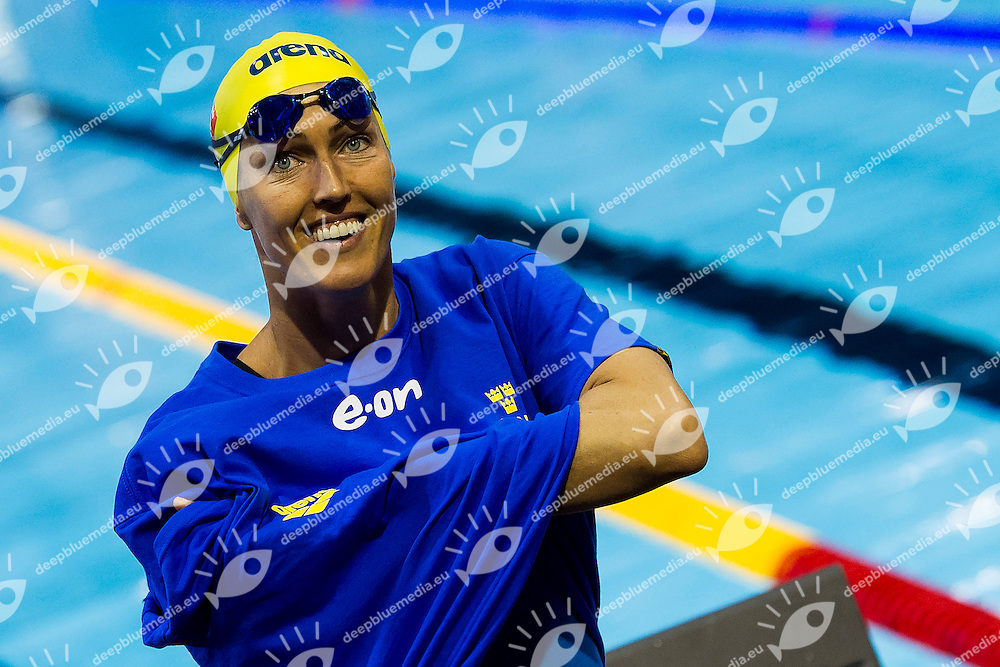 Therese Alshammar Sweden SWE<br /> 50 Butterfly Women Heat<br /> 32nd LEN European Championships <br /> Berlin, Germany 2014  Aug.13 th - Aug. 24 th<br /> Day06 - Aug. 18<br /> Photo A.Masini/Deepbluemedia/Inside