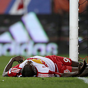 HARRISON, NEW JERSEY- November 06:  Bradley Wright-Phillips #99 of New York Red Bulls after missing a goal scoring opportunity during his sides loss in the New York Red Bulls Vs Montreal Impact MLS playoff match at Red Bull Arena, Harrison, New Jersey on November 06, 2016 in Harrison, New Jersey. (Photo by Tim Clayton/Corbis via Getty Images)