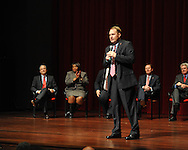 New Ole Miss head football coach Hugh Freeze speaks at a press conference at the Ford Center on campus in Oxford, Miss. on Monday, December 5, 2011.
