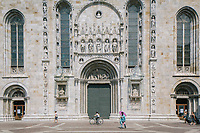 COMO, ITALY - 21 JUNE 2017: A view of the Cathedral of Como, Italy, on June 21st 2017.<br /> <br /> Residents of Como are worried that funds redirected to migrants deprived the town's handicapped of services and complained that any protest prompted accusations of racism.<br /> <br /> Throughout Italy, run-off mayoral elections on Sunday will be considered bellwethers for upcoming national elections and immigration has again emerged as a burning issue.<br /> <br /> Italy has registered more than 70,000 migrants this year, 27 percent more than it did by this time in 2016, when a record 181,000 migrants arrived. Waves of migrants continue to make the perilous, and often fatal, crossing to southern Italy from Africa, South Asia and the Middle East, seeing Italy as the gateway to Europe.<br /> <br /> While migrants spoke of their appreciation of Italy's humanitarian efforts to save them from the Mediterranean Sea, they also expressed exhaustion with the country's intricate web of permits and papers and European rules that required them to stay in the country that first documented them.