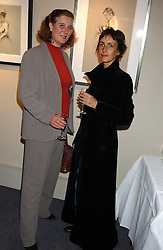 Left to right, PRINCESS KATARINA OF YUGOSLAVIA and TRUDY GOOD at a private view of fashion designer Lindka Cierach's Couture Dresses drawn by Trudy Good held at the Belgravia Gallery, 45 Albemarle Street, London on 21st September 2005.<br />
