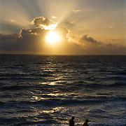 Sunrise along Lantana Beach near Palm Beach, Florida.<br /> Photography by Jose More