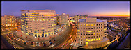 Panorama of Ballston neighborhood in Arlington, VA.  Image Captured 2011.<br />