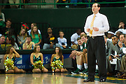 WACO, TX - DECEMBER 9: Baylor Bears head coach Scott Drew looks on against the Texas A&M Aggies on December 9, 2014 at the Ferrell Center in Waco, Texas.  (Photo by Cooper Neill/Getty Images) *** Local Caption *** Scott Drew