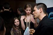 RITA ALDRIDGE; LILY ALDRIDGE; PHILIP BERRYMAN.  Miles Aldridge exhibition. Hamiltons. Carlos Place, London.  31 March 2009