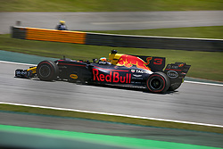 November 10, 2017 - Sao Paulo, Sao Paulo, Brazil - Nov, 2017 - Sao Paulo, Sao Paulo, Brazil - DANIEL RICCIARDO/Red Bull Racing. Free practice this Friday (10), for the Brazilian Grand Prix of Formula One that takes place next Sunday at the Autodromo de Interlagos in São Paulo. (Credit Image: © Marcelo Chello via ZUMA Wire)