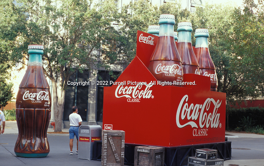 If you're thirsty at Disney's Hollywood Studios in Orlando, you might want to consider Coca-Cola. Coke is the official Disney drink. You get a lot more than 8 fluid ounces in one of these bottles.