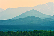 Kluane Ranges, the easternmost of the St Elias Mountains. <br /> Kluane National Park<br />