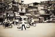 road crossing Hanoi