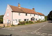 Historic cottage homes in village centre of Shottisham, Suffolk, England, UK