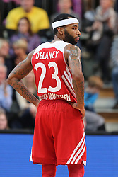 02.03.2014, ENERVIE Arena, Hagen, GER, Beko Basketball BL, Phoenix Hagen vs FC Bayern Muenchen, 24. Runde, im Bild Malcom Delaney #23 (FC Bayern Muenchen) nachdenklick // during the Beko Basketball Bundes league 24th round match between Phoenix Hagen and FC Bayern Munich at the ENERVIE Arena in Hagen, Germany on 2014/03/02. EXPA Pictures © 2014, PhotoCredit: EXPA/ Eibner-Pressefoto/ Schueler<br /> <br /> *****ATTENTION - OUT of GER*****