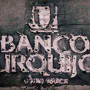 Banco Urquijo lettering (removed), Seville, Spain (January 2007)