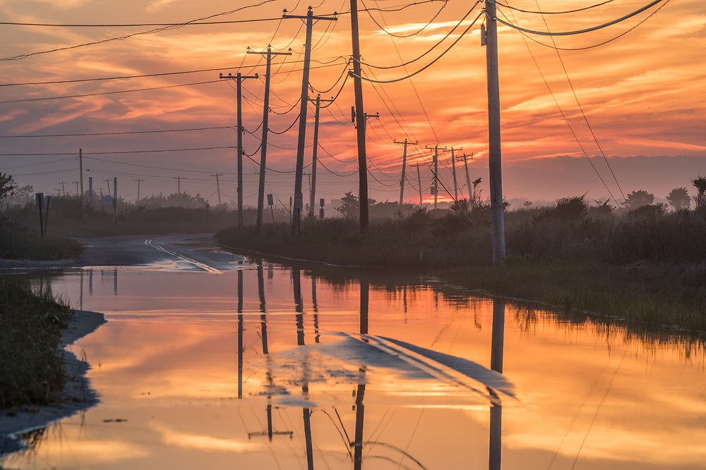 Dune Road Flooded, East Quogue, NY