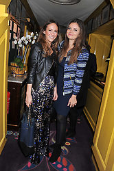 Left to right, LAVINIA BRENNAN and LADY NATASHA RUFUS-ISAACS at the Johnnie Walker Blue Label and David Gandy partnership launch party held at Annabel's, 44 Berkeley Square, London on 5th February 2013.