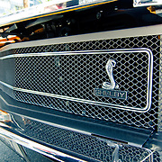 Ford Mustang Shelby exhibited during Australia Day in downtown (CBD or Central Business District). During Australia Day.