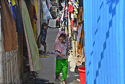 October 23, 2016 - Dhaka, Bangladesh - A group of Bangladeshi slum children at Rayer Bazar slum in Dhaka city, Bangladesh.  On October 22, 2016..Bangladeshi slum child at Rayer Bazar slum in Dhaka. More than half of the populations of city slums are children. They face hardship on a daily basis that includes hunger, poor access to clean water, health care, insufficient education and protection. (Credit Image: © Str/NurPhoto via ZUMA Press)