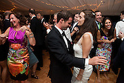 Ariana Rockefeller and her husband Matthew Bucklin dance together at their wedding reception on Mount Desert Island, Maine, Saturday, September 4, 2010.  Craig Dilger for The New York Times
