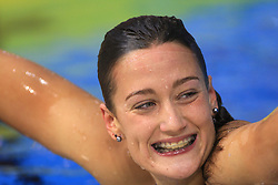 Winner Mireia Garcia Belmonte of Spain at day 4 of LEN European Short Course Swimming Championships Rijeka 2008, on December 14, 2008,  in Kantrida pool, Rijeka, Croatia. (Photo by Vid Ponikvar / Sportida)