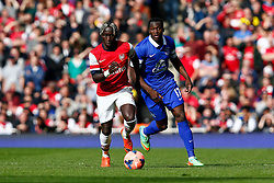 Arsenal Defender Bacary Sagna (FRA) is challenged by Everton Forward Romelu Lukaku (BEL) - Photo mandatory by-line: Rogan Thomson/JMP - 07966 386802 - 08/03/14 - SPORT - FOOTBALL - Emirates Stadium, London - Arsenal v Everton - FA Cup Quarter Final.