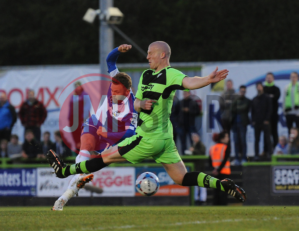Bristol Rovers' Matt Taylor takes a shot on goal - Photo mandatory by-line: Dougie Allward/JMP - Mobile: 07966 386802 - 29/04/2015 - SPORT - Football - Nailsworth - The New Lawn - Forest Green Rovers v Bristol Rovers - Vanarama Football Conference