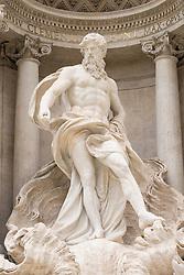 Trevi Fountain or Fontana di Trevia  in Rome Italy