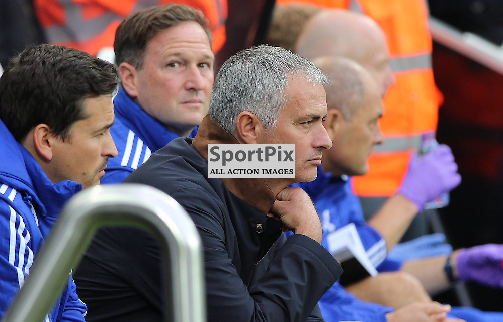 Newcastle United v Chelsea English Premiership 26 September 2015; a pensive First Team Manager Jose Mourinho (Chelsea) during the Newcastle v Chelsea English Premiership match played at St. James' Park, Newcastle; <br /> <br /> &copy; Chris McCluskie | SportPix.org.uk