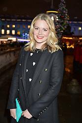 at Skate At Somerset House with Fortnum & Mason on 16th November 2016.Cara Theobold at Skate At Somerset House with Fortnum & Mason on 16th November 2016.