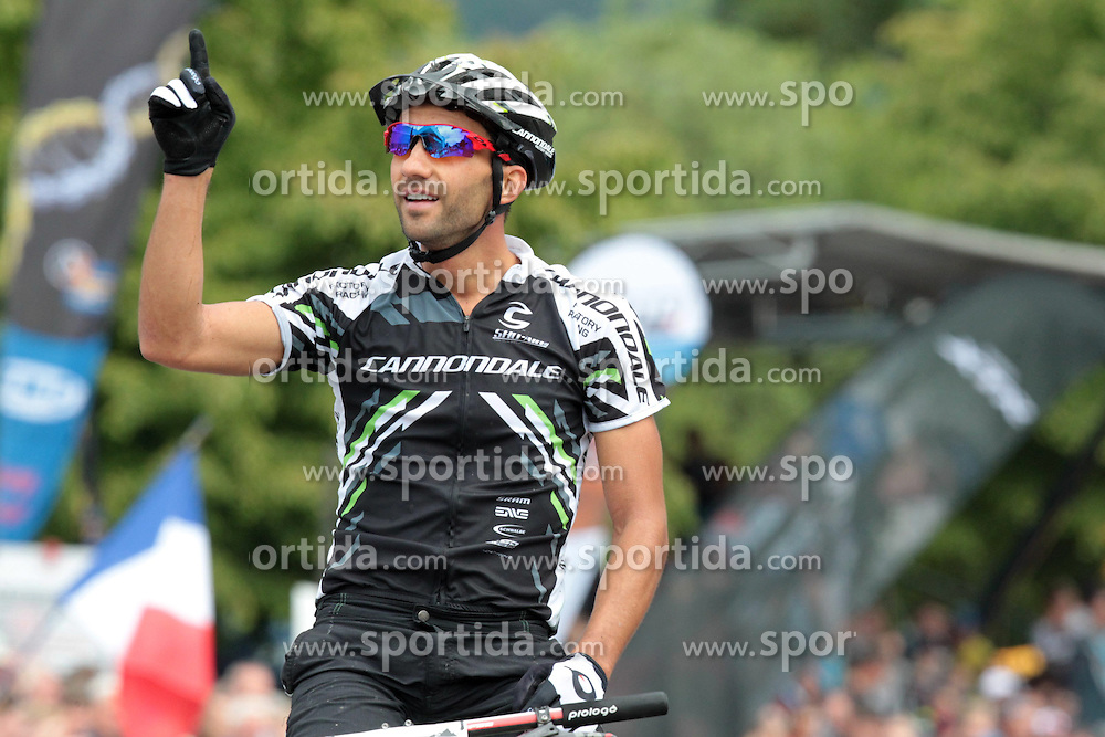 01.06.2014, Bullentaele, Albstadt, GER, UCI Mountain Bike World Cup, Cross Country Herren, im Bild Manuel Fumic Deutschland // during Mens Cross Country Race of UCI Mountainbike Worldcup at the Bullentaele in Albstadt, Germany on 2014/06/01. EXPA Pictures © 2014, PhotoCredit: EXPA/ Eibner-Pressefoto/ Langer<br /> <br /> *****ATTENTION - OUT of GER*****