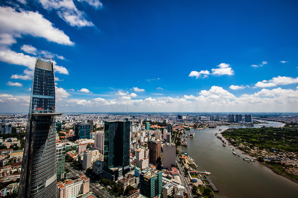 A new view of Saigon from a a new, currently unfinished tower called SaigonOne.