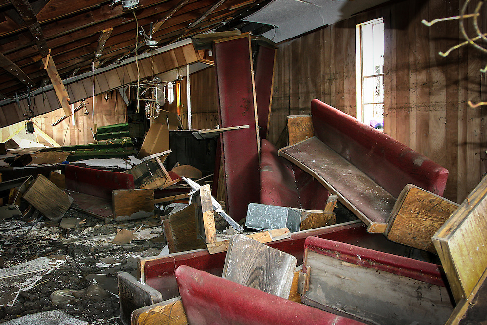 Chruch in New Orleans destoryed by Hurricane Katriana