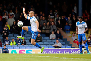 Bury attacker James Vaughan (12) controlling the ball and starting an attack during the EFL Sky Bet League 1 match between Southend United and Bury at Roots Hall, Southend, England on 30 April 2017. Photo by Matthew Redman.