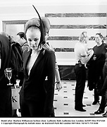 Model after  Mathew Williamson fashion show. Ladbroke Hall, Ladbroke Gro. London. 26/9/97 Film 97271f20<br />© Copyright Photograph by Dafydd Jones<br />66 Stockwell Park Rd. London SW9 0DA<br />Tel 0171 733 0108