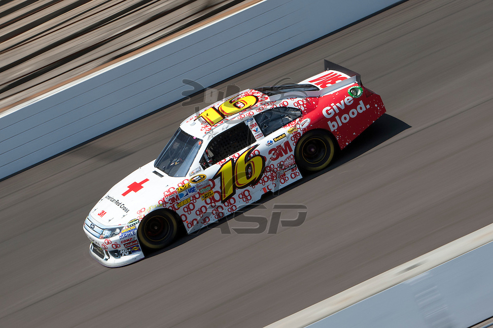 Speedway, IN  - JUL 31, 2011: Greg Biffle (16) races to turn one for the Brickyard 400 presented by BigMachineRecords.com at Indianapolis Motor Speedway in Speedway, IN.