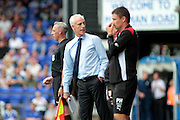 Ipswich manager Mick McCarthy and Barnsley Manager Paul Heckingbottom during the EFL Sky Bet Championship match between Ipswich Town and Barnsley at Portman Road, Ipswich, England on 6 August 2016. Photo by Nigel Cole.