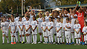 Olympique Lyonnaise posed for a team photo prior to an International Champions Cup women's soccer game, Sunday, Aug. 18, 2019, in Cary, Olympique Lyonnais bested the North Carolina Courage 1-0 in the finals.  (Brian Villanueva/Image of Sport)