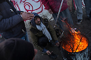 Winter weather are creating very hard living condition in the Calais migrants camp where about 4500 lives. Calais, France. FEDERICO SCOPPA/CAPTA