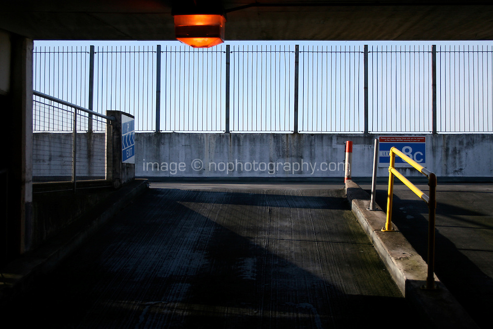 Ramp to top floor in car park Dublin city Ireland
