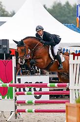 Van Der Schans Patrick (NED) - Extase<br /> 4 jarige Springpaarden<br /> KWPN Paardendagen Ermelo 2013<br /> © Dirk Caremans