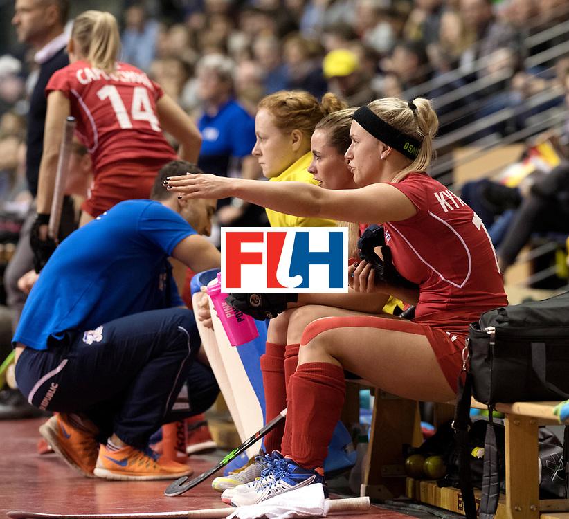 BERLIN - Indoor Hockey World Cup<br /> Women: Czech Republic - Germany<br /> foto: KYNDLOVA Klara.<br /> WORLDSPORTPICS COPYRIGHT FRANK UIJLENBROEK