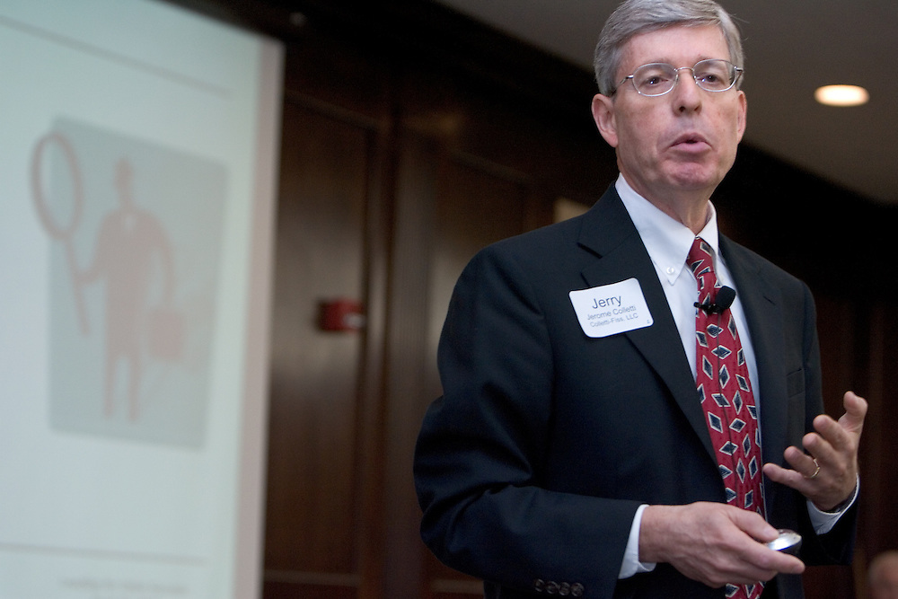 Jerome A. Colletti, Managing Partner, Colletti-Fiss, LLC,  speaks during The Ralph and Luci Schey Sales Centre's 10th Annual Sales Symposium at O.U. on Friday, 4/20/07.
