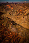 Aerial view of the Valley of Fire State Park, Nevada.